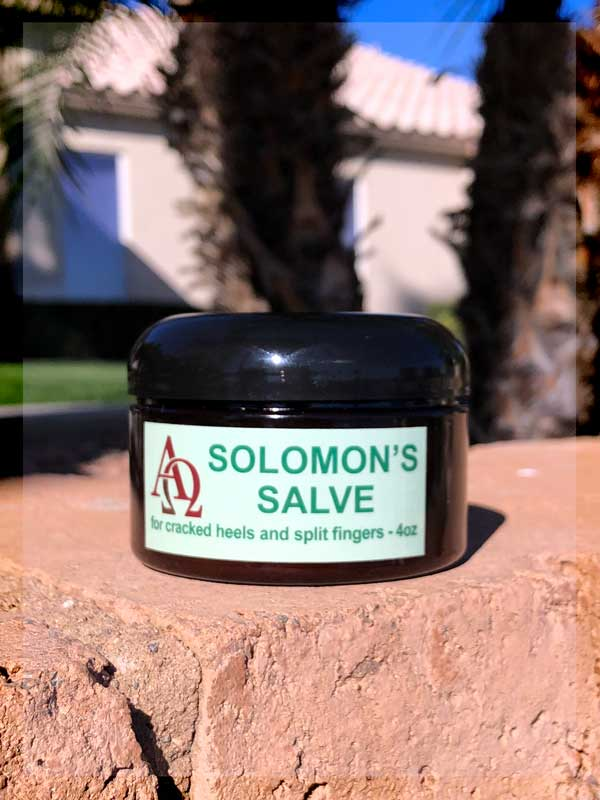 Solomon's salve cracked heels